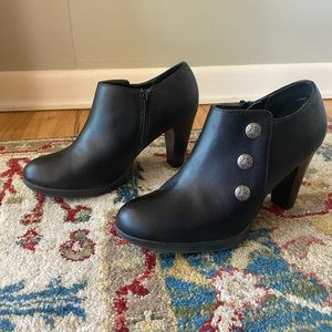 Rialto Black Heeled Ankle Boots